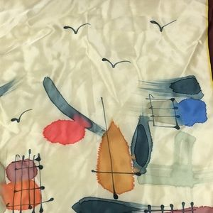 Hand Painted Accessories - Hand Painted 100% Silk Large Scarf